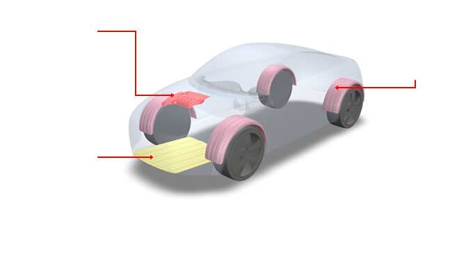 Precision Injection Molding In Automotive Industry, Engine Cover Parts